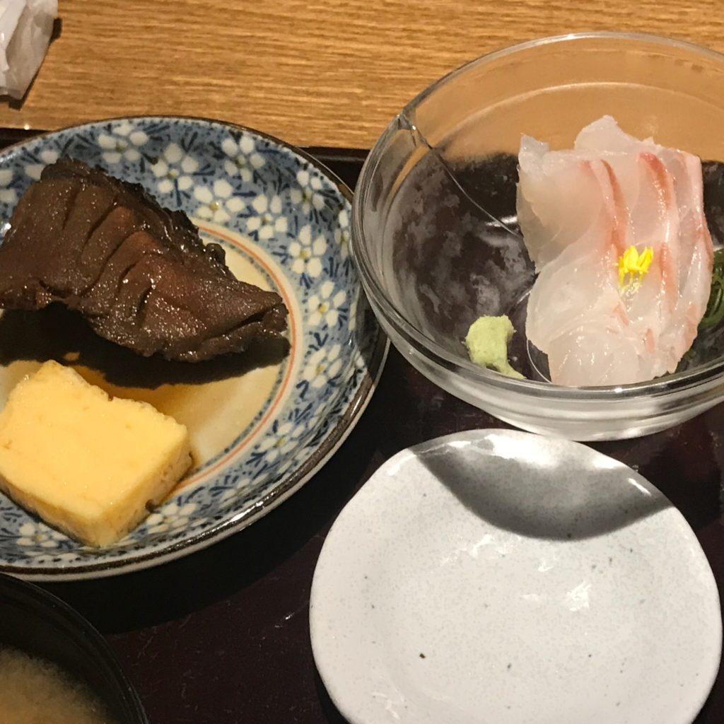煮魚と刺身